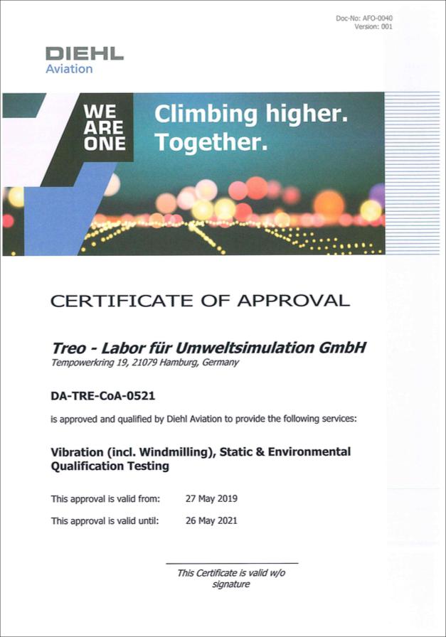 Treo - Diehl Aviation authorization